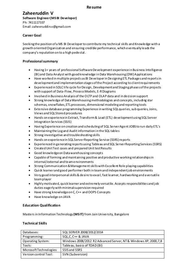 zaheer u0026 39 s resume