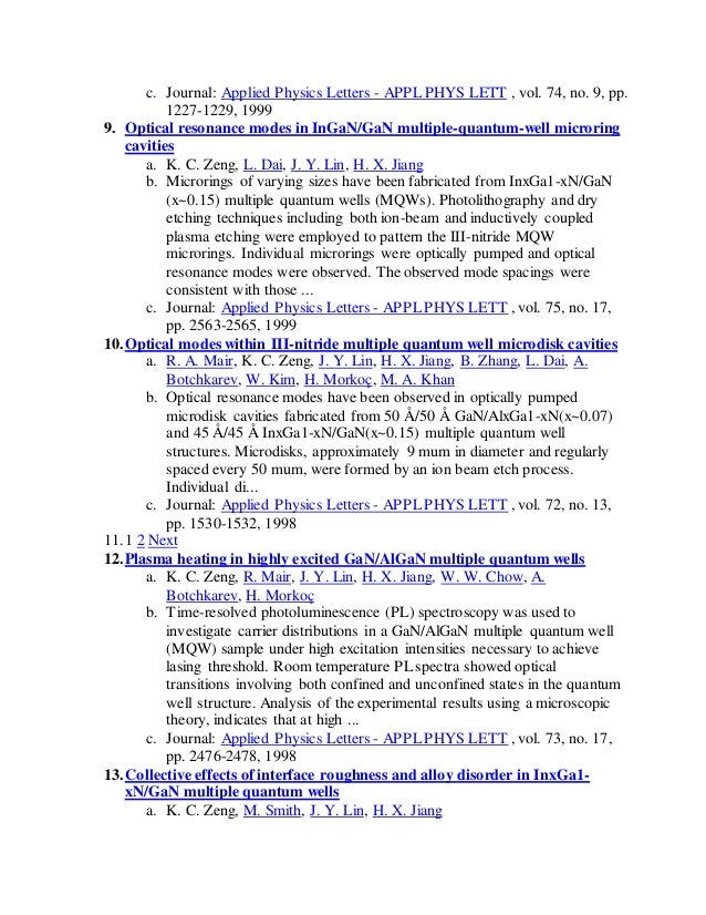 Applided Physics Letters