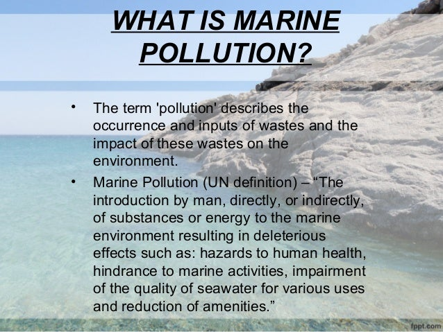 water pollution thesis statement