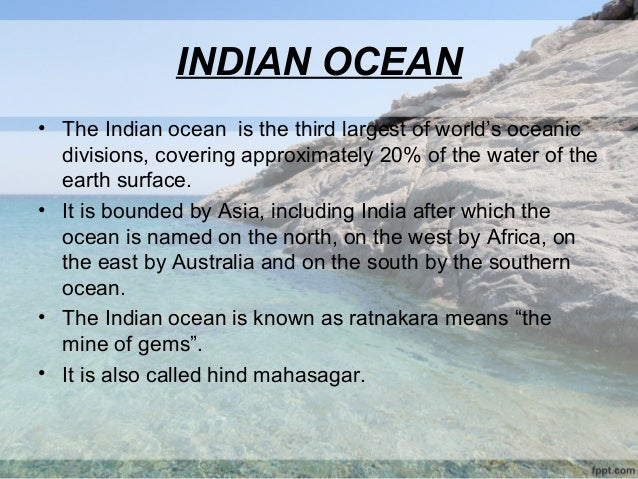 Marine Pollution State Of Indian Ocean Copy - World mahasagar name