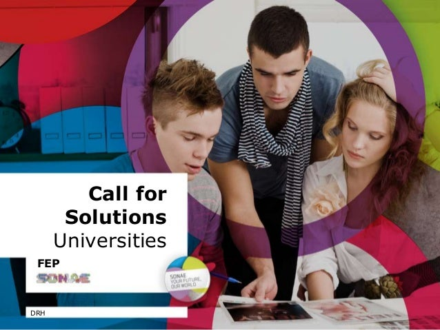Call for Solutions Universities DRH FEP