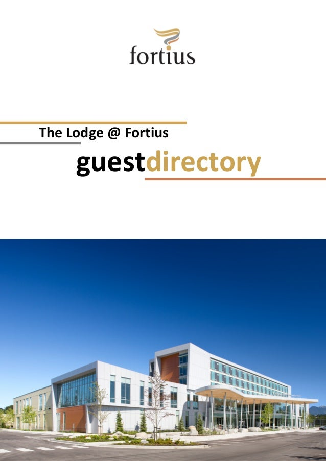 The Lodge @ Fortius guestdirectory