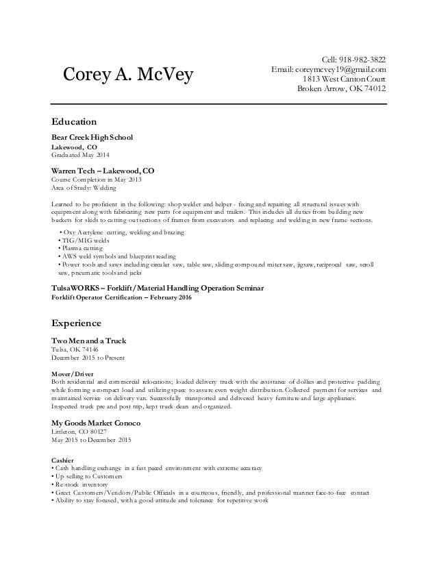Coreys resume malvernweather