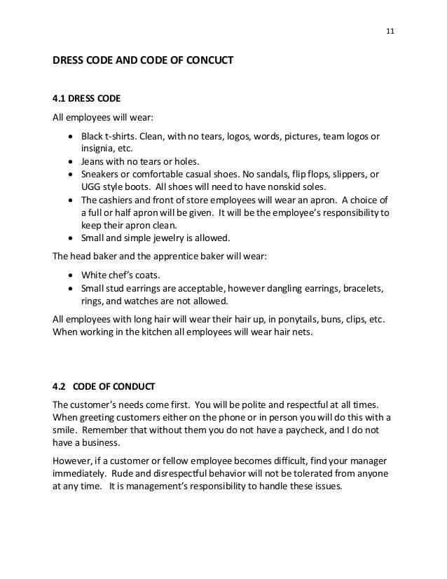 sugar shoes bakery manual 12 2014 rh slideshare net bakery employee handbook template bakery employee handbook