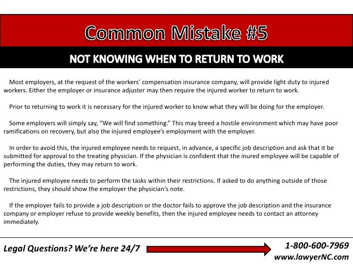 North Carolina Workers' Compensation Guide (9 Common