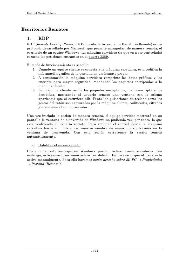Gabriel Merín Cubero                                             gabmecu@gmail.com     Escritorios Remotos    1.        RD...