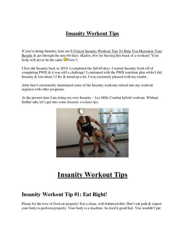 9 critical insanity workout tips to help you maximize your results