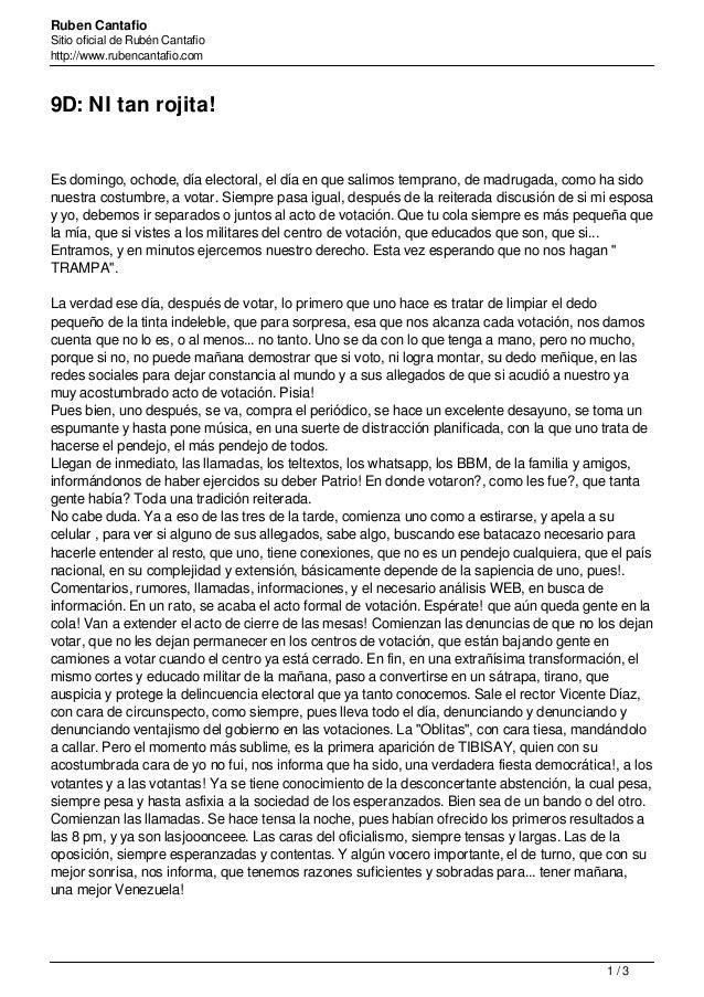 Ruben Cantafio Sitio oficial de Rubén Cantafio http://www.rubencantafio.com 9D: NI tan rojita! Es domingo, ochode, día ele...
