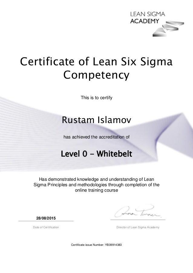 Lean Six Sigma White Belt