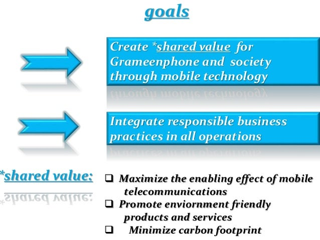 objectives of grameenphone The objective of grameenphone is connecting rural bangladesh through provision of mobile telephone service by creating micro-enterprise which can increase individual or personal income and provide village with connectivity.