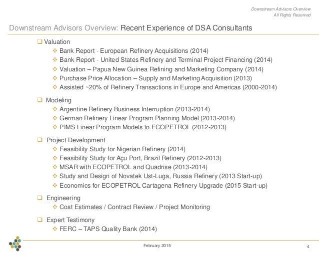 Downstream Advisors Company Overview