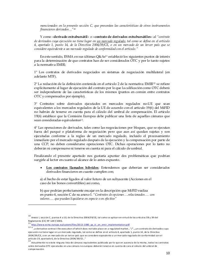 Mifid anexo 1 sección c instrumentos financieros