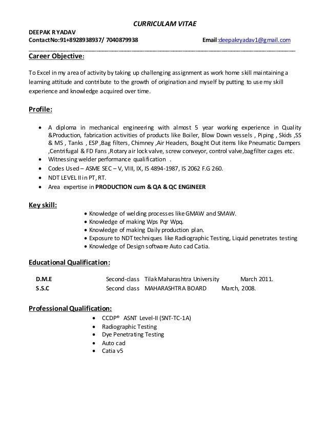 deepak resume with 5 year working exp