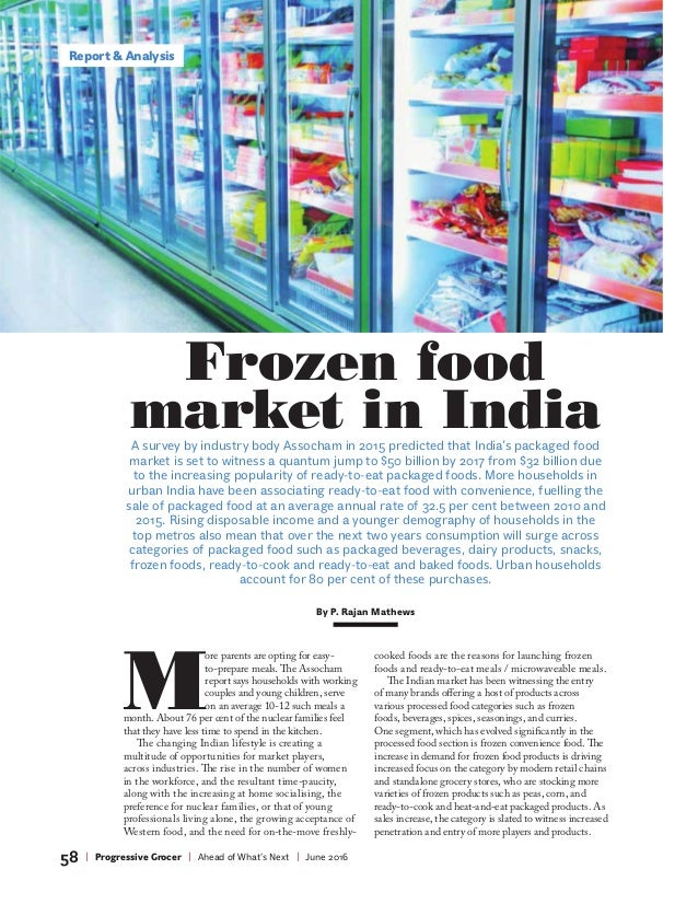 Report & Analysis 58 | Progressive Grocer | Ahead of What's Next | June 2016 M ore parents are opting for easy- to-prepare...