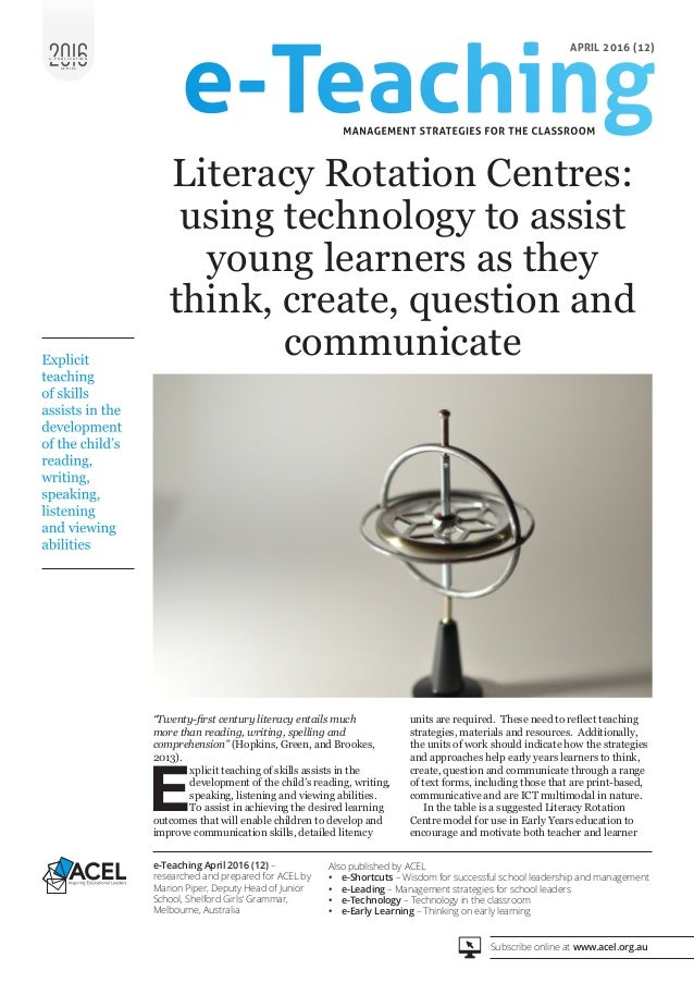 Using Technology To Assist Young Learners To Think Create Question