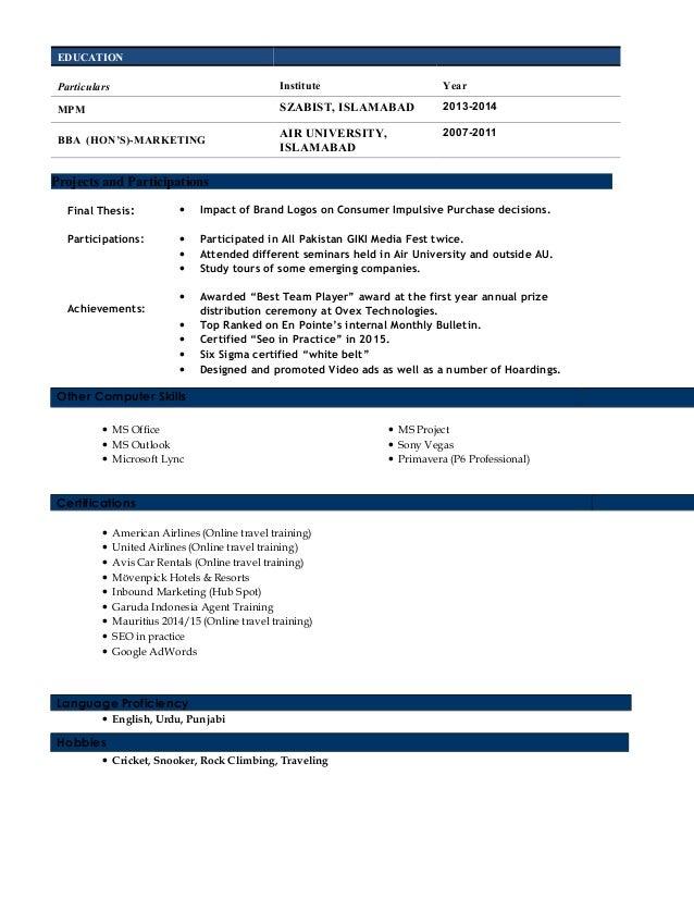 Resume - Adnan Malik Slide 2