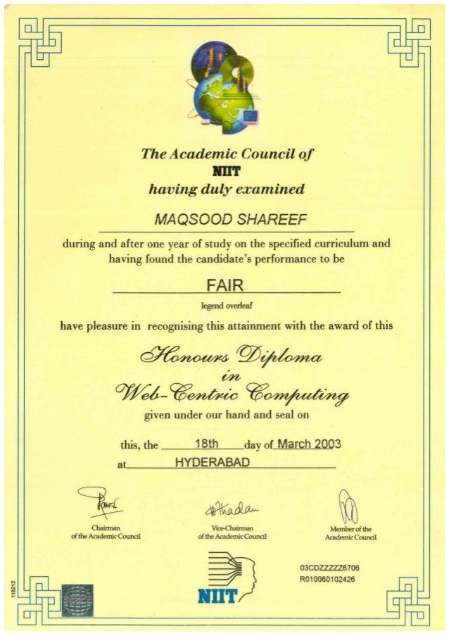 Niit Honours Diploma