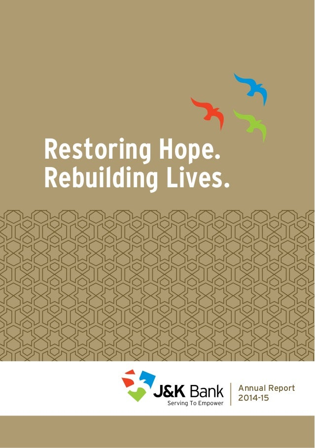 Restoring Hope. Rebuilding Lives. Annual Report 2014-15