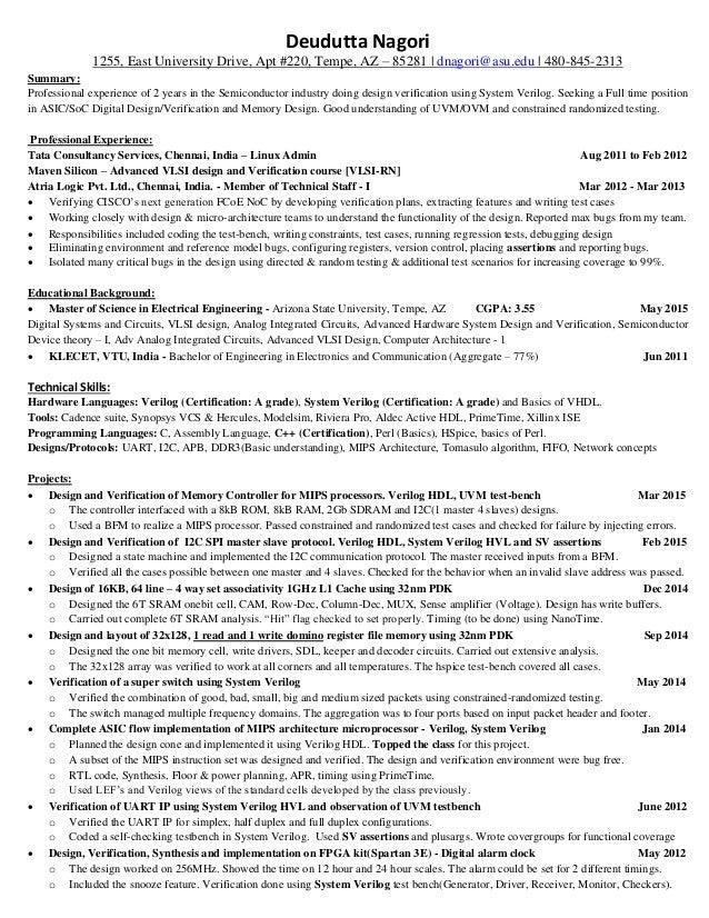 Deudutta Nagori - Verification Resume