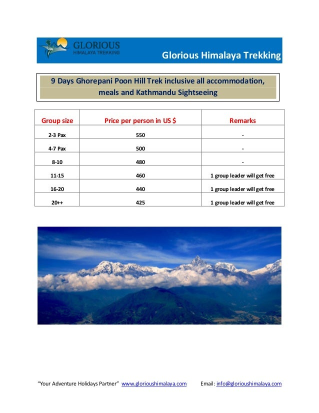 """Your Adventure Holidays Partner"" www.glorioushimalaya.com Email: info@glorioushimalaya.com Glorious Himalaya Trekking Gro..."