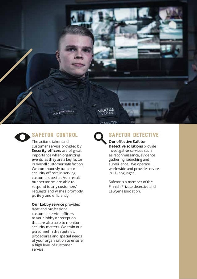 Our Security management and security consulting solutions allow our customers to control security matters in accordance wi...