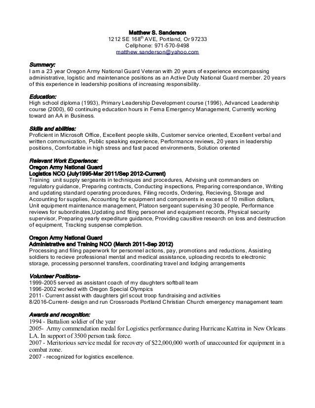 Resume Planner Position