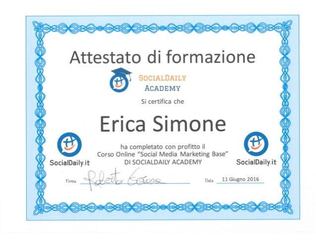 Attestato Erica Simone