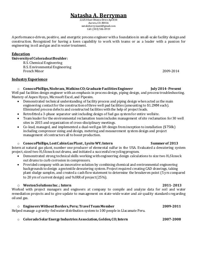 Resume August 2015