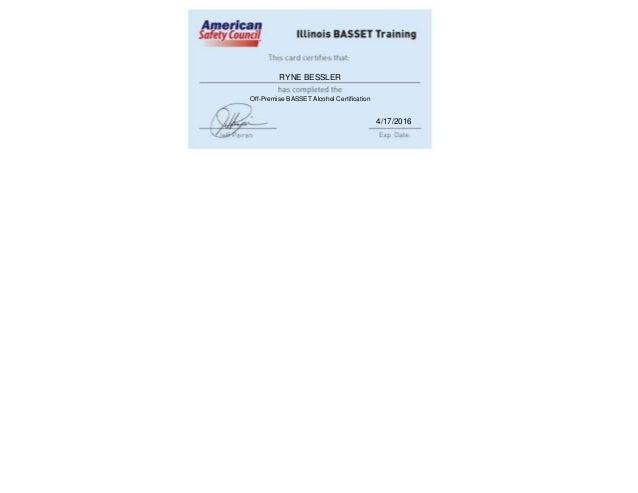 ryne bessler: basset certification