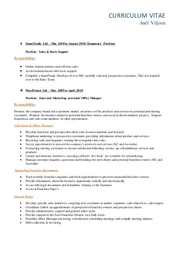 Develop a New Zealand-style CV