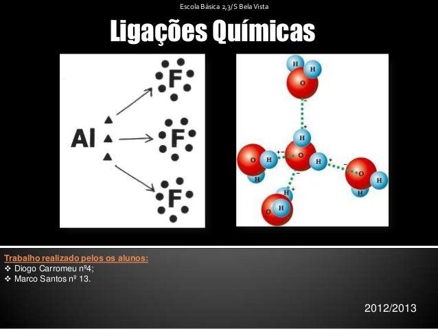 Ligações Químicas2012/2013Escola Básica 2,3/ S BelaVistaTrabalho realizado pelos os alunos: Diogo Carromeu nº4; Marco Sa...