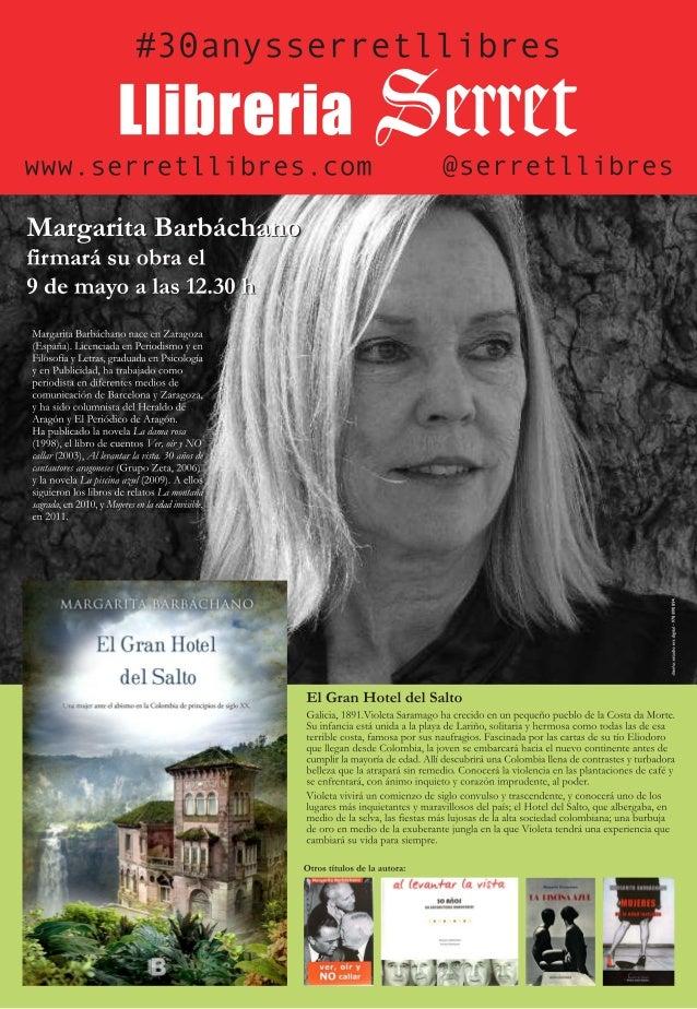 9 de mayo Margarita Barbáchano presenta 'El gran hotel del