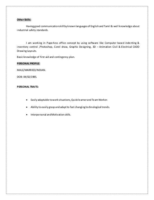 karthik key skill resume 2016