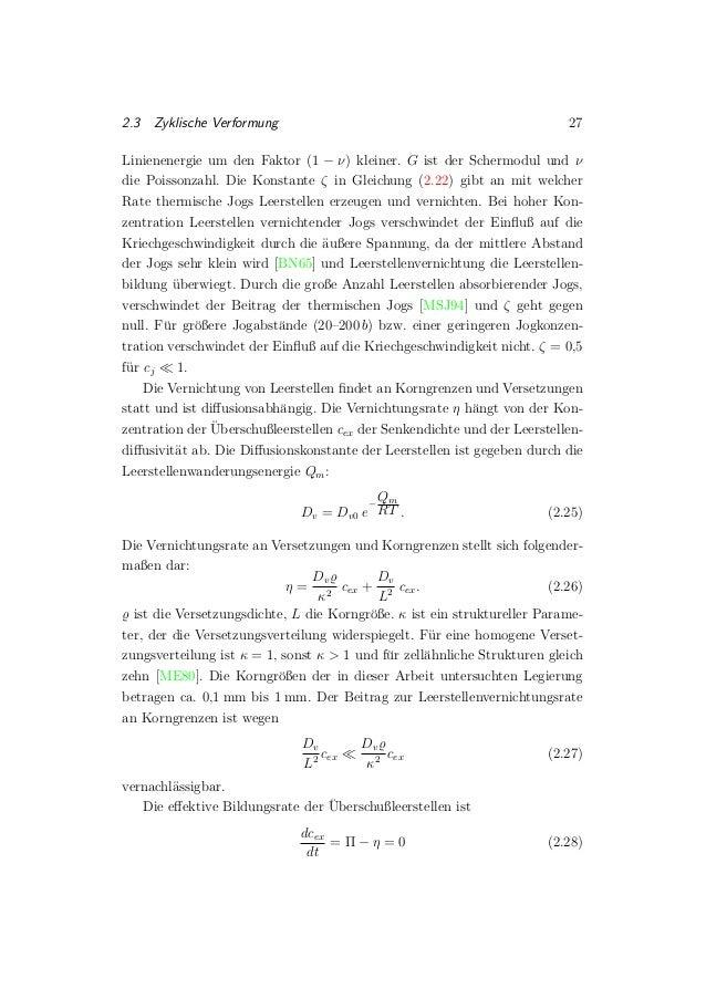 2.3 Zyklische Verformung 27 Linienenergie um den Faktor (1 − ν) kleiner. G ist der Schermodul und ν die Poissonzahl. Die K...