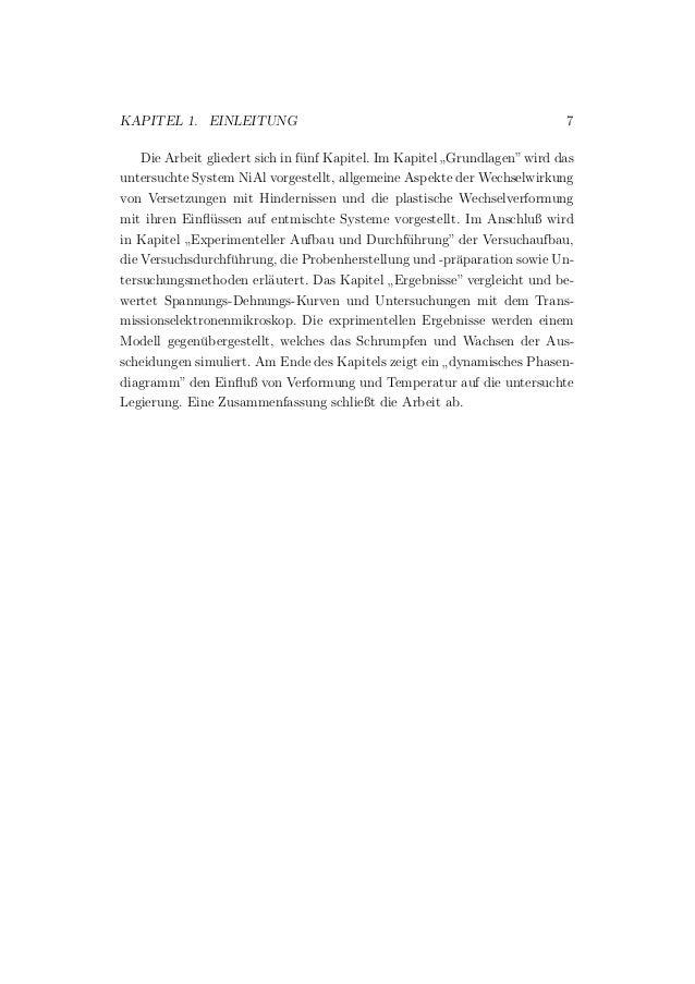 """KAPITEL 1. EINLEITUNG 7 Die Arbeit gliedert sich in f¨unf Kapitel. Im Kapitel """" Grundlagen""""wird das untersuchte System NiA..."""