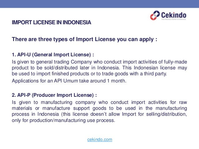 Doing Business in Indonesia: Export and Import License