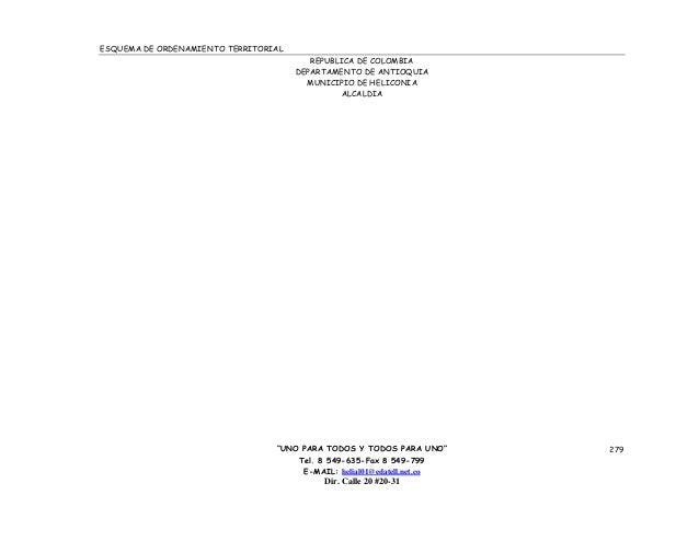 ESQUEMA DE ORDENAMIENTO TERRITORIAL                                         REPUBLICA DE COLOMBIA                         ...