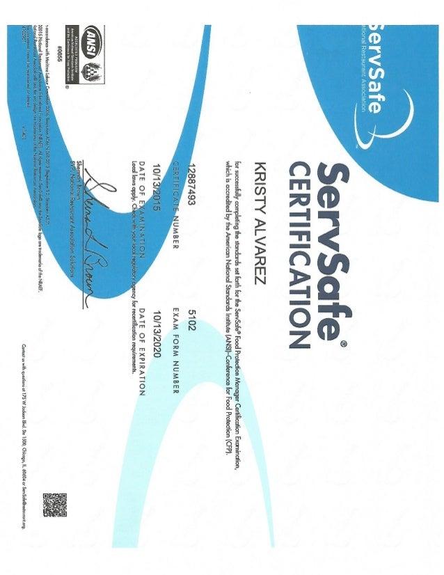 Food Sanitation Certification