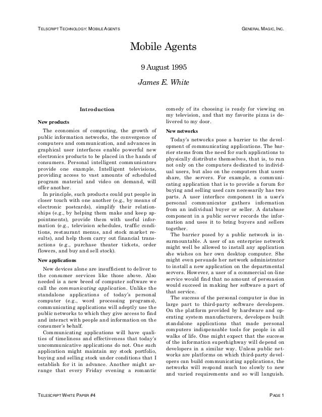 thesis on mobile agent technology Mtech dissertation security issues in mobile agents submitted in partial  fulfillment of requirements for the degree of master of technology by e c vijil.