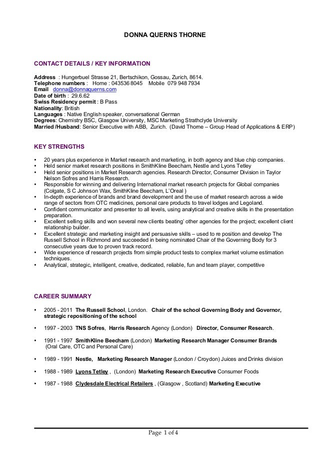 Unique Commercial Manager Resume Scotland Image - Administrative ...