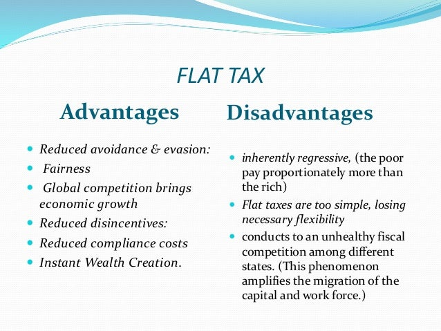 the flat tax Flat tax discussion is a reduction in the tax rate the marginal rate is 396%, but lower incomes are taxed at lower rates flat tax would lower the.