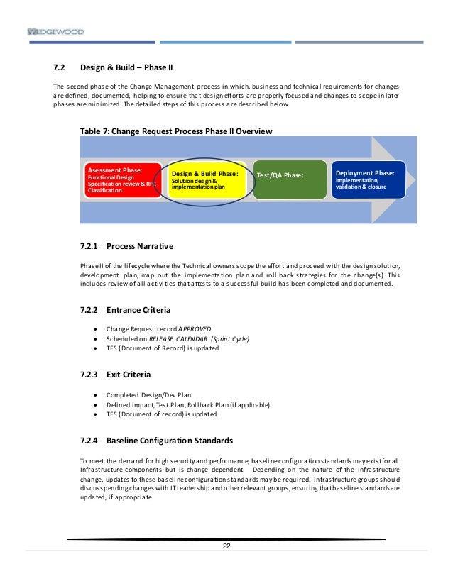 IT Change Management Process Guide & Standards v4 0
