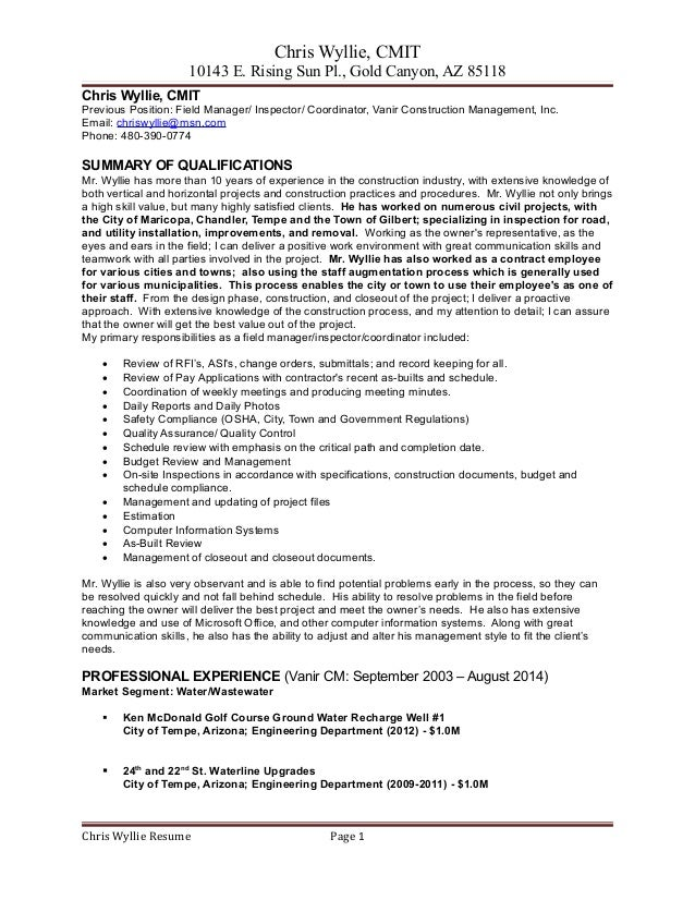 Contemporary Arizona Engineering Resume Ornament - Administrative ...