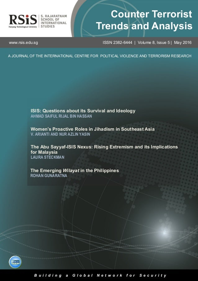 1 Volume 8, Issue 5 | May 2016Counter Terrorist Trends and Analysis ISIS: Questions about its Survival and Ideology AHMAD ...