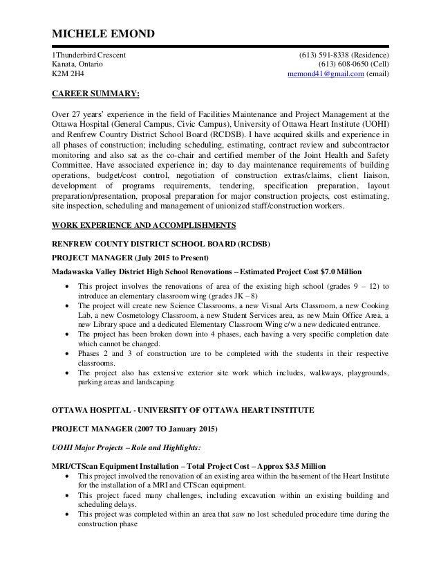 Resume - Michele Emond Mar 16