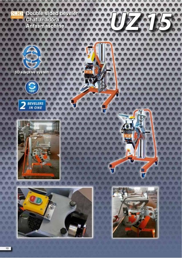 Double sided beveler Chaflanadora Anfasmaschine 10 UZ 15 3D adaptive system