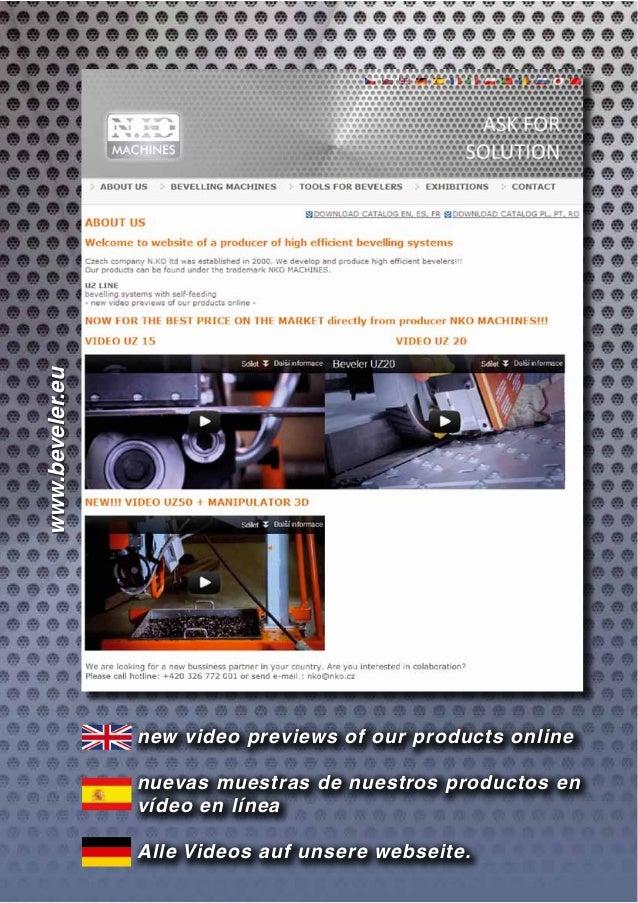 new video previews of our products online nuevas muestras de nuestros productos en vídeo en línea Alle Videos auf unsere w...