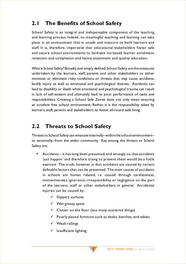 safety standards for schools safety standards
