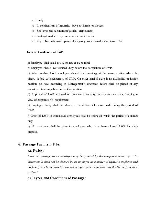 Internship Report Of PIA