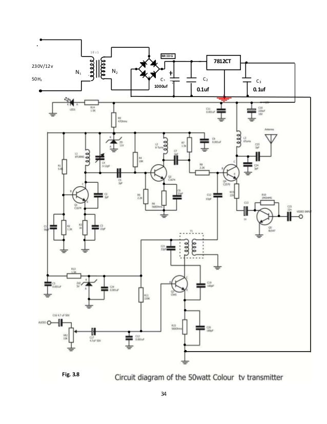 DESIGN AND CONSTRUCTION OF A 50W COLOUR TELEVISION TRANSMITTER on wifi transmitter schematic, vlf transmitter schematic, rf transmitter schematic, cellular transmitter schematic, am transmitter schematic, bluetooth transmitter schematic, television transmitter schematic, hf transmitter schematic, shortwave transmitter schematic, 900 mhz transmitter schematic, elf transmitter schematic, tv transmitter schematic, cw transmitter schematic, radio transmitter schematic, fm transmitter schematic,